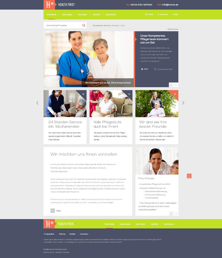Internetseite Altenpflege erstellen - KonVis