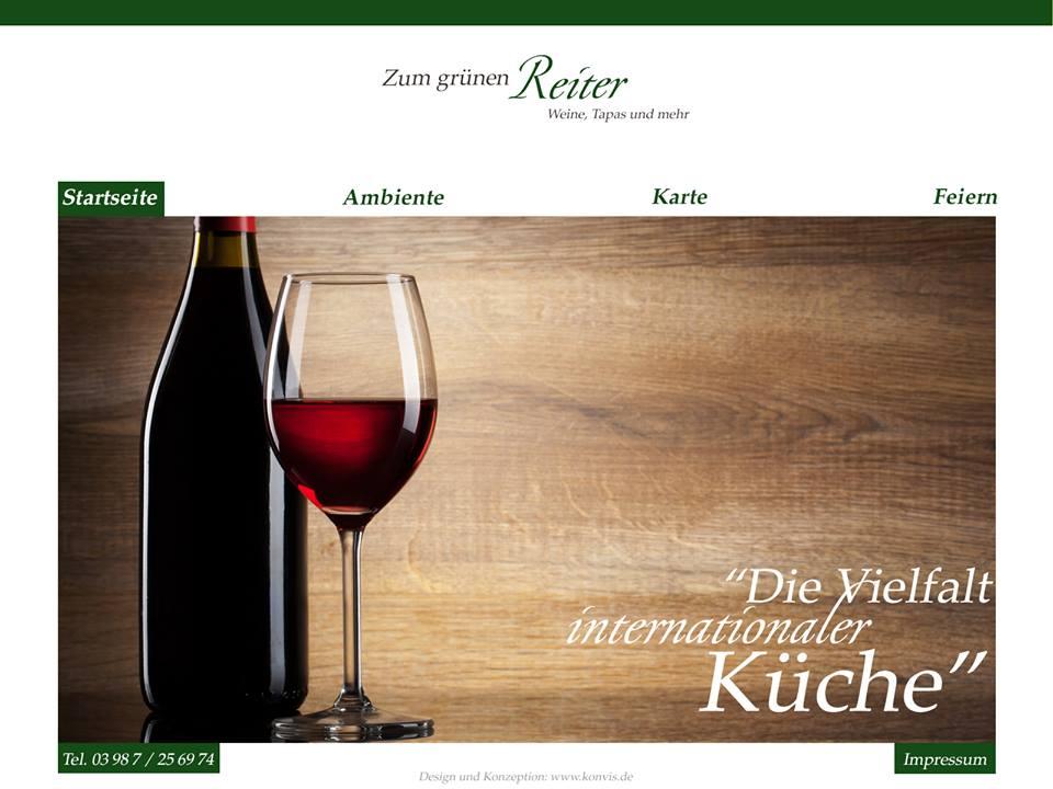 zum grünen Reiter WordPress Gastronomie Internetseite