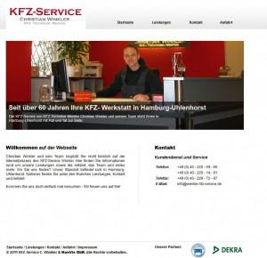 einfache Internetseite