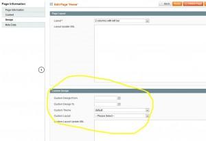 Magento CMS Page custom design