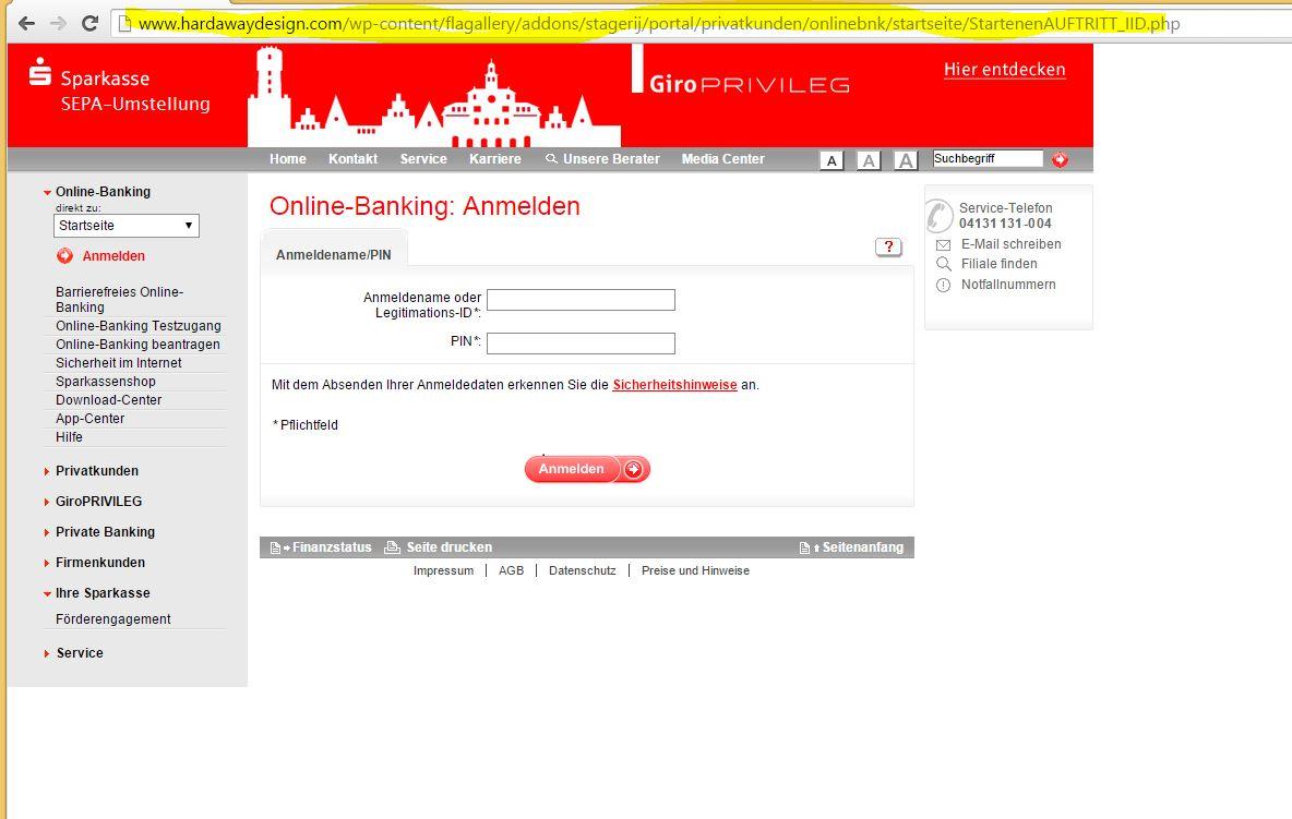 Sparkasse online banking mst
