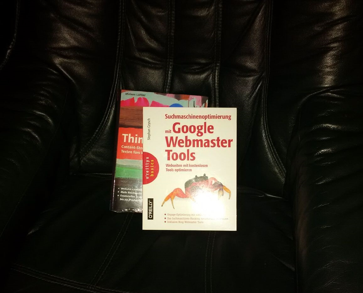 google webmaster Tools und Content Marketing Buch