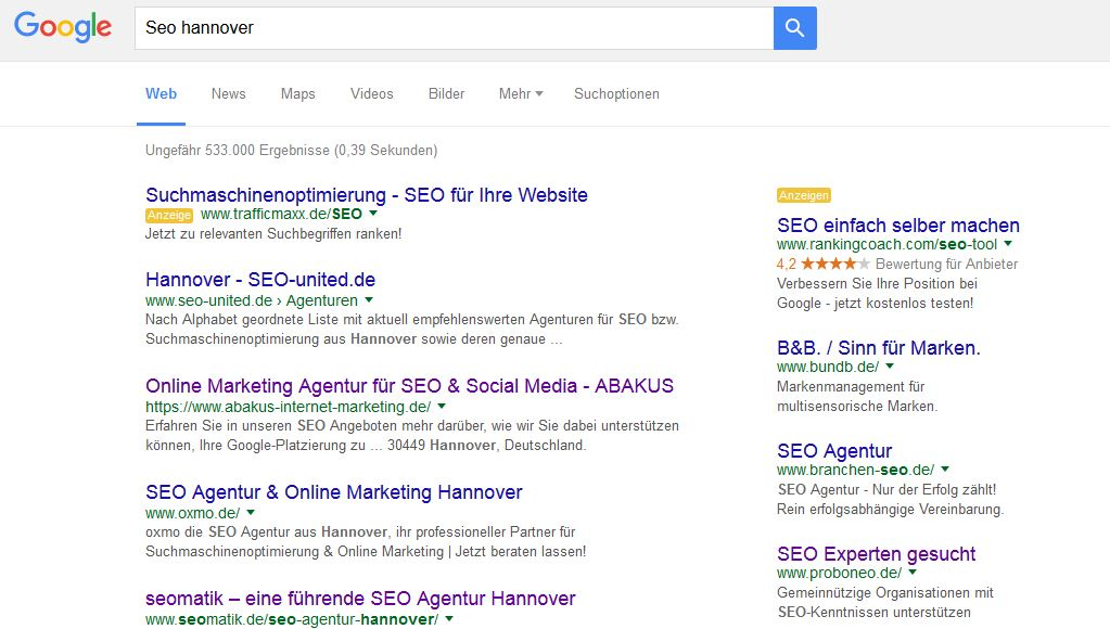 Seo Hannover Position