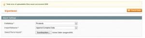 einfache produkte importieren - auswahl menü adminbereich