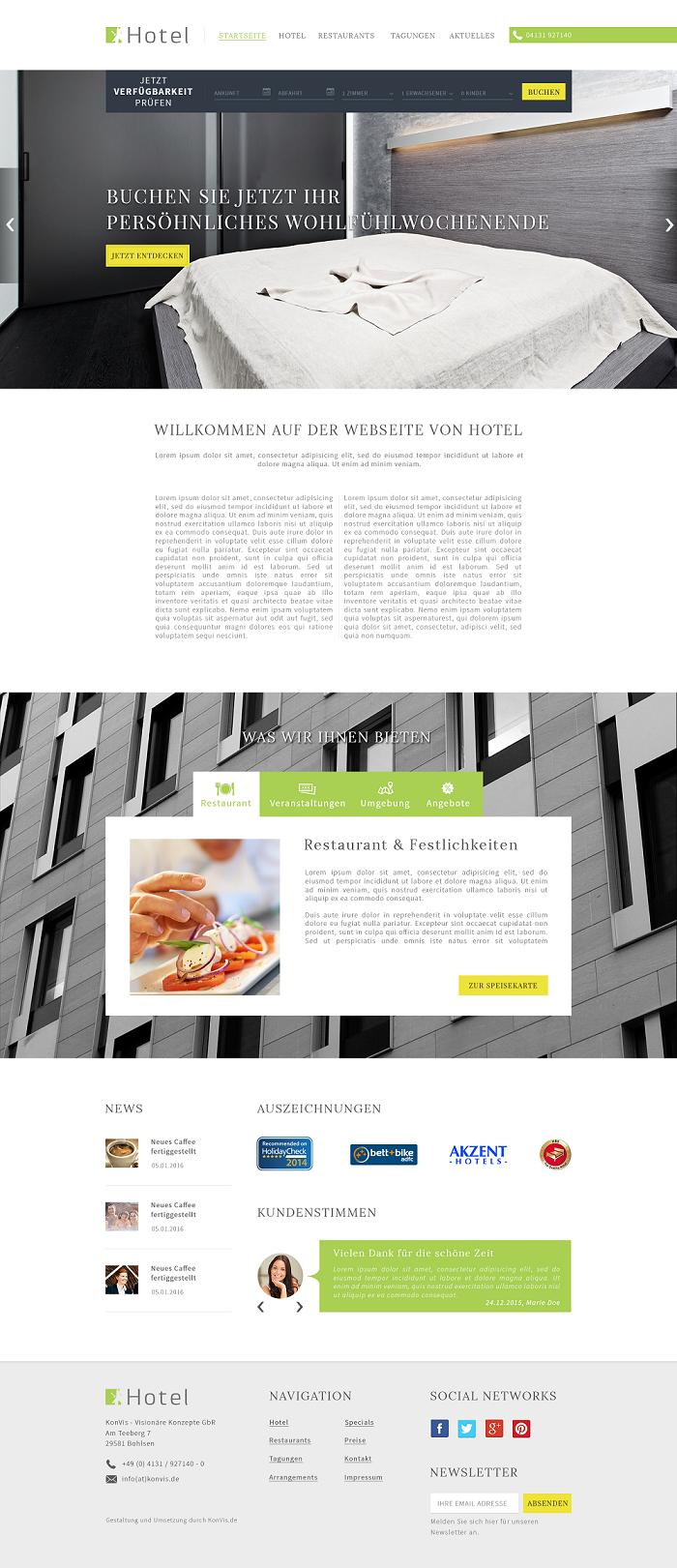Internetseite hotel agentur hannover