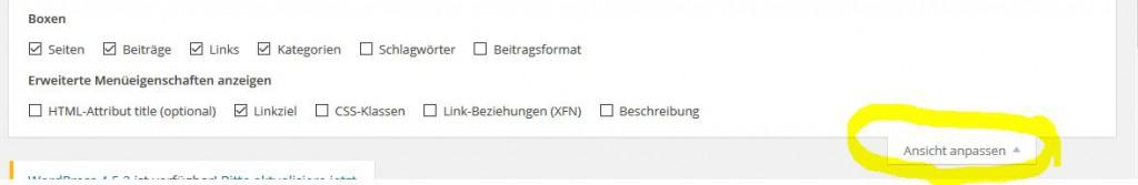 Wordpress Hannover Linkziel in neuem Fenster bei Menü setzen