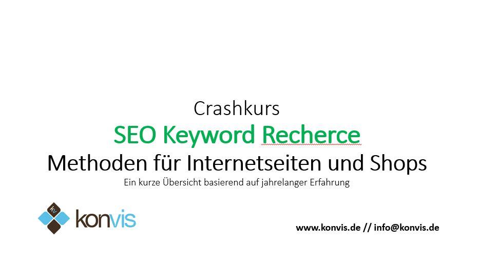 SEO Crashkurs Magento SEO Keyword Recherche