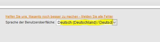 Magento Backend auf Deutsch umstellen