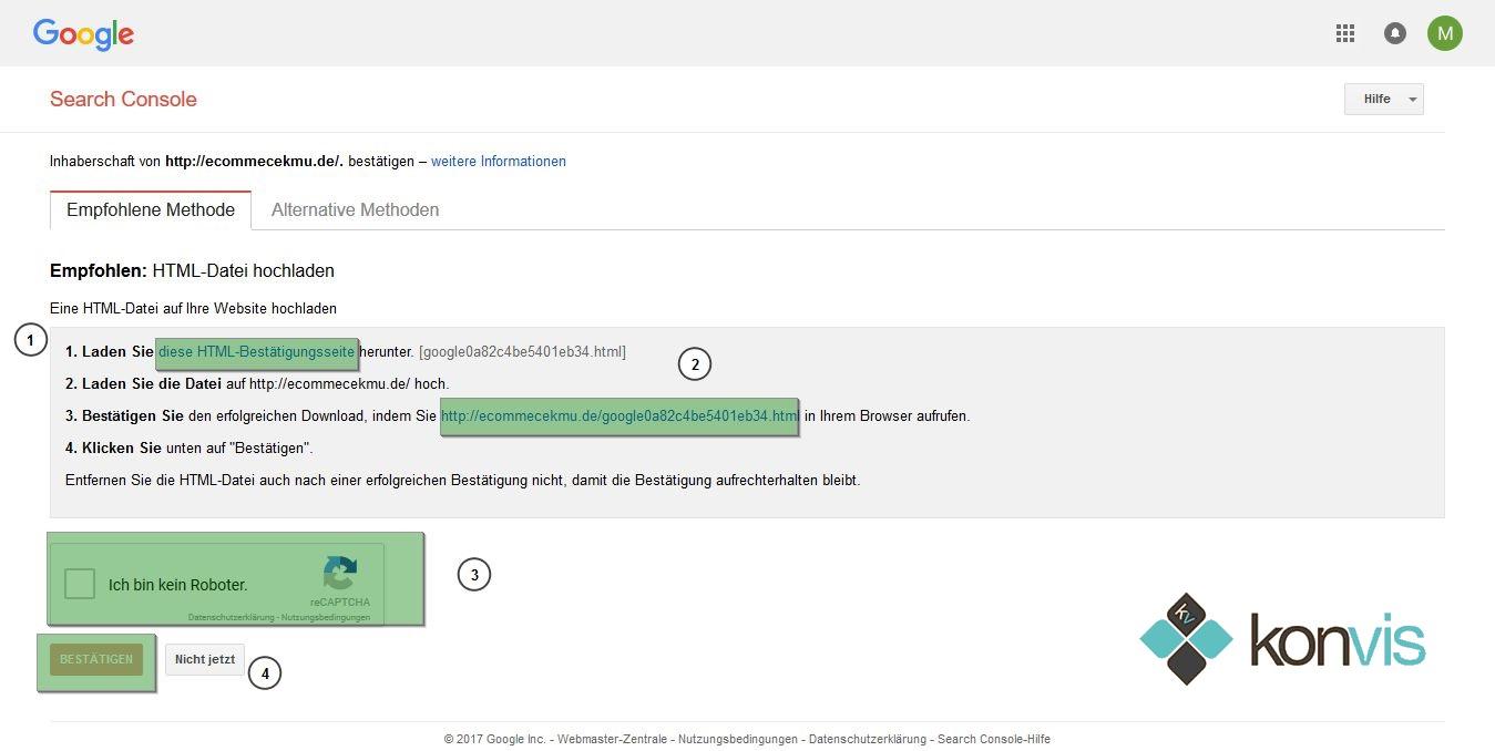 google-search-console-einrichten-authentifikations-datei-hochlade