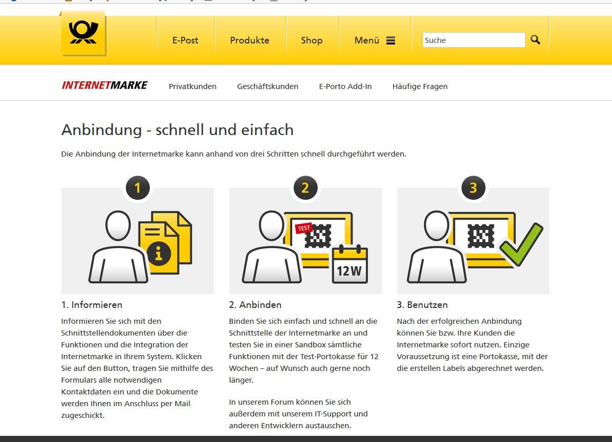 Offizielle Deutsche Post Internetmarken Und Magento